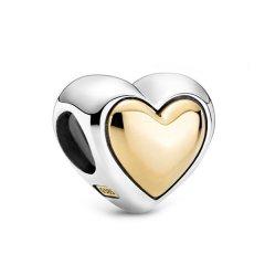 Charm Pandora 799415C00 corazón cúpula dorada