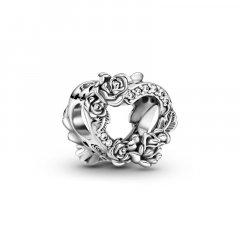 Charm Pandora Corazón Abierto y Flores Rosas 799281C01 plata