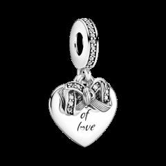 Charm Pandora Corazón de Bow & Love 799221C01 mujer