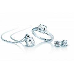 Set Colgante, pendientes y anillo Diamonfire 1309781916160 Plata
