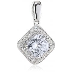 Colgante Redondo DIAMONFIRE 6511871082 mujer plata circonitas