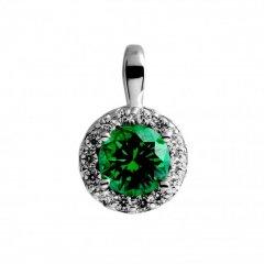 Colgante Redondo DIAMONFIRE 6512701084 mujer plata verde