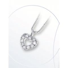 Collar corazón Davite & Delucchi CLN011328 mujer oro blanco diamantes Classic Line