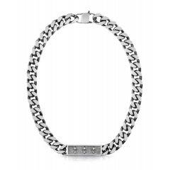 Collar Guess Curb UMN70002 hombre acero gris