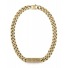 Collar Guess eslabones UMN70003 acero dorado