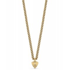 Collar Guess eslabones UMN70009 acero dorado