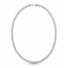 Collar Guess eslabones UMN70019 acero plateado