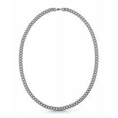 Collar Guess eslabones UMN70030 acero gris