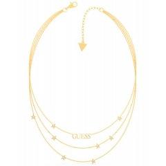 Collar GUESS estrellas UBN70066 acero dorado