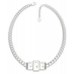 Collar GUESS logo UBN70009 mujer acero plateado