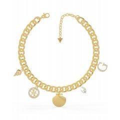 Collar GUESS MERMAID UBN79075 acero IP dorado