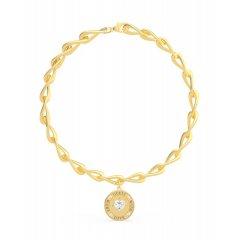 Collar GUESS moneda UBN70006 mujer acero plateado