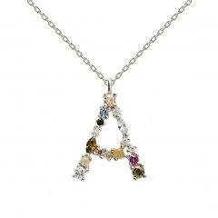 Collar P D PAOLA CO02-096-U plata, letra A