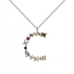 Collar P D PAOLA CO02-098-U plata, letra C