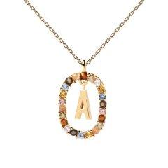 Collar P D Paola letra A CO01-260-U mujer dorado