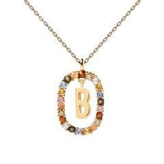 Collar P D Paola letra B CO01-261-U mujer dorado