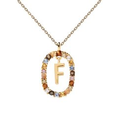 Collar P D Paola letra F CO01-265-U mujer dorado