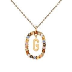 Collar P D Paola letra G CO01-266-U mujer dorado