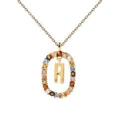 Collar P D Paola letra H CO01-267-U mujer dorado