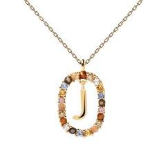 Collar P D Paola letra J CO01-269-U mujer dorado