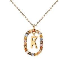 Collar P D Paola letra K CO01-270-U mujer dorado