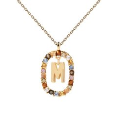 Collar P D Paola letra M CO01-272-U mujer dorado