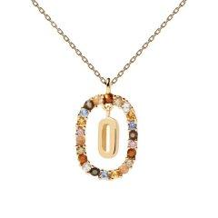 Collar P D Paola letra O CO01-274-U mujer dorado