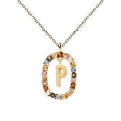 Collar P D Paola letra P CO01-275-U mujer dorado