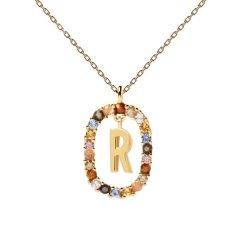 Collar P D Paola letra R CO01-277-U mujer dorado
