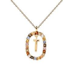 Collar P D Paola letra T CO01-279-U mujer dorado
