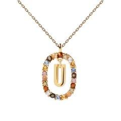 Collar P D Paola letra U CO01-280-U mujer dorado