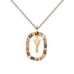 Collar P D Paola letra Y CO01-284-U mujer dorado