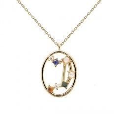 Collar PDPaola libra CO01-350-U mujer baño oro