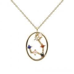 Collar PDPaola piscis CO01-343-U mujer baño oro