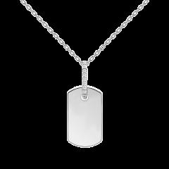 Collar P D PAOLA TALISMAN CO02-087-U Mujer plata y circonitas