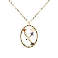 Collar PDPaola tauro CO01-345-U mujer baño oro