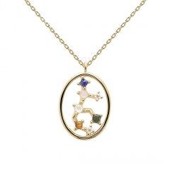 Collar PDPaola virgo CO01-349-U mujer baño oro