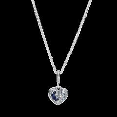 Collar Pandora Corazón de Luna y Estrellas Azul 399232C01-50 mujer