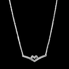 Collar Pandora Corazón Espumoso Brillante 399273C01-45 plata