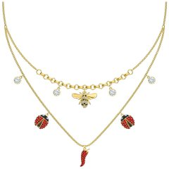 thumbnail Collar Orbita Swarovski 5600513 chapado dorado