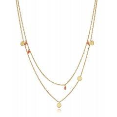 Collar Trend Viceroy 61016C100-96 mujer baño de oro piedra sintética