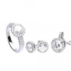 Conjunto de plata DIAMONFIRE 1312691917170 mujer circonitas