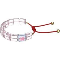 Pulsera Swarovski letra loto 5614974 rosa