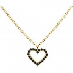 Colgante P D Paola Black heart CO01-221-U plata