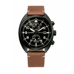 Reloj Citizen Cronógrafo CA7045-14E acero y piel