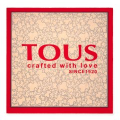 Foulard Tous 095920623 Kaos Icon beige y rojo