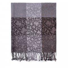 Foulard Tous 995920058 Kaos negro-gris