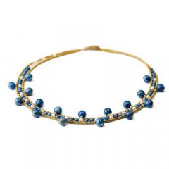 Gargantilla Ziio jewelry NK Crown Lapiz Mujer Plata Azul Lapislázuli