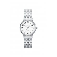 Reloj Viceroy Grand 42224-04 mujer acero blanco