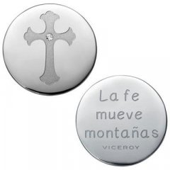 Medallón Plaisir Viceroy VMC0002-00 Mujer Acero Plateado Plaisir